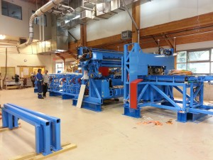 The new Hundegger ROBOT Drive arrives at CAWP ready for commissioning